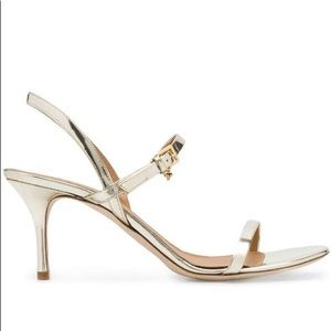 NWT Tory Burch Gold Strappy Heels